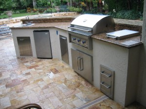 custom outdoor kitchen grill island design — Gas Grills, Parts ...