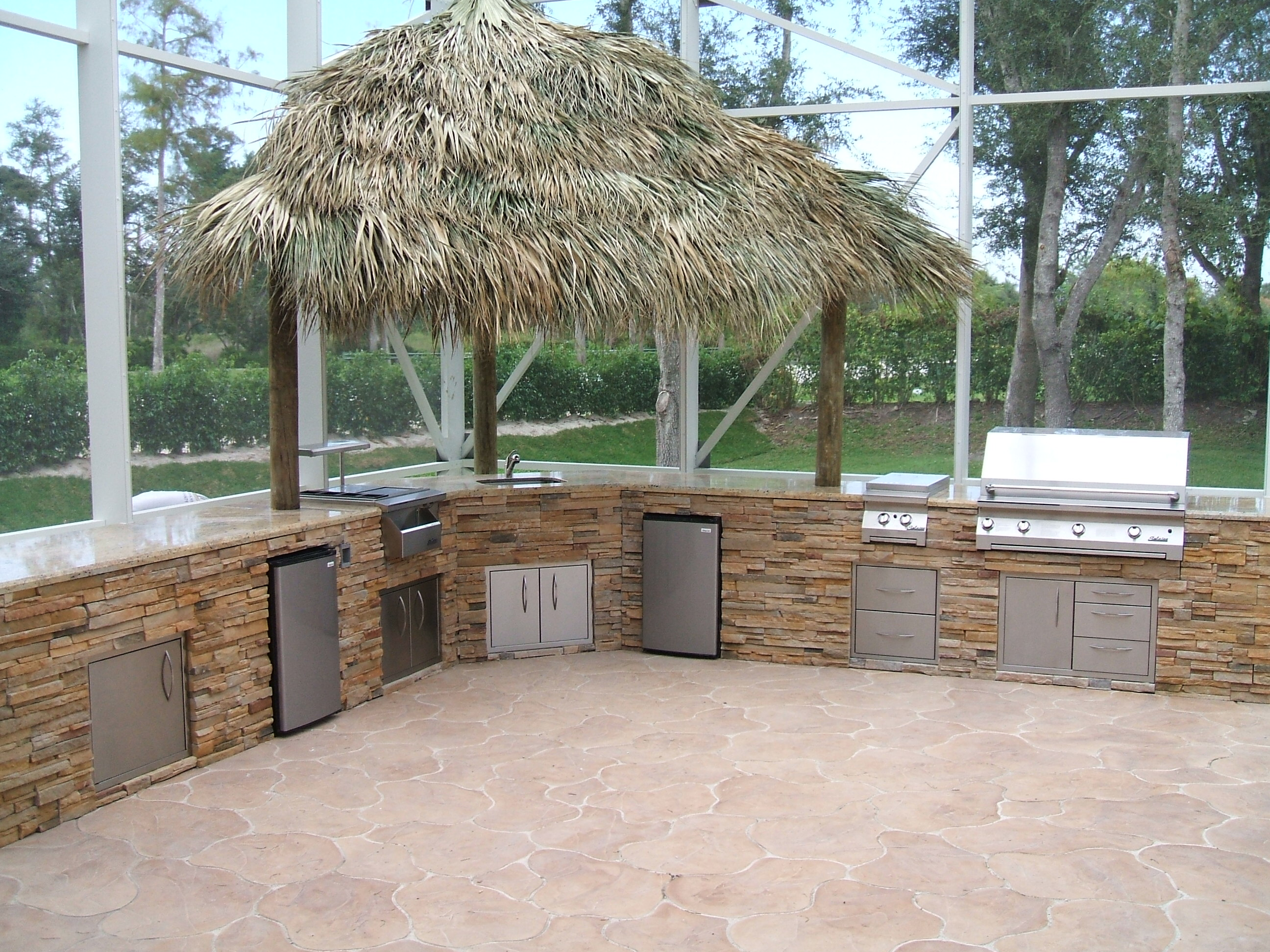 Building An Outdoor Kitchen Custom Outdoor Kitchen Design In A Outdoor Room With Cover Gas