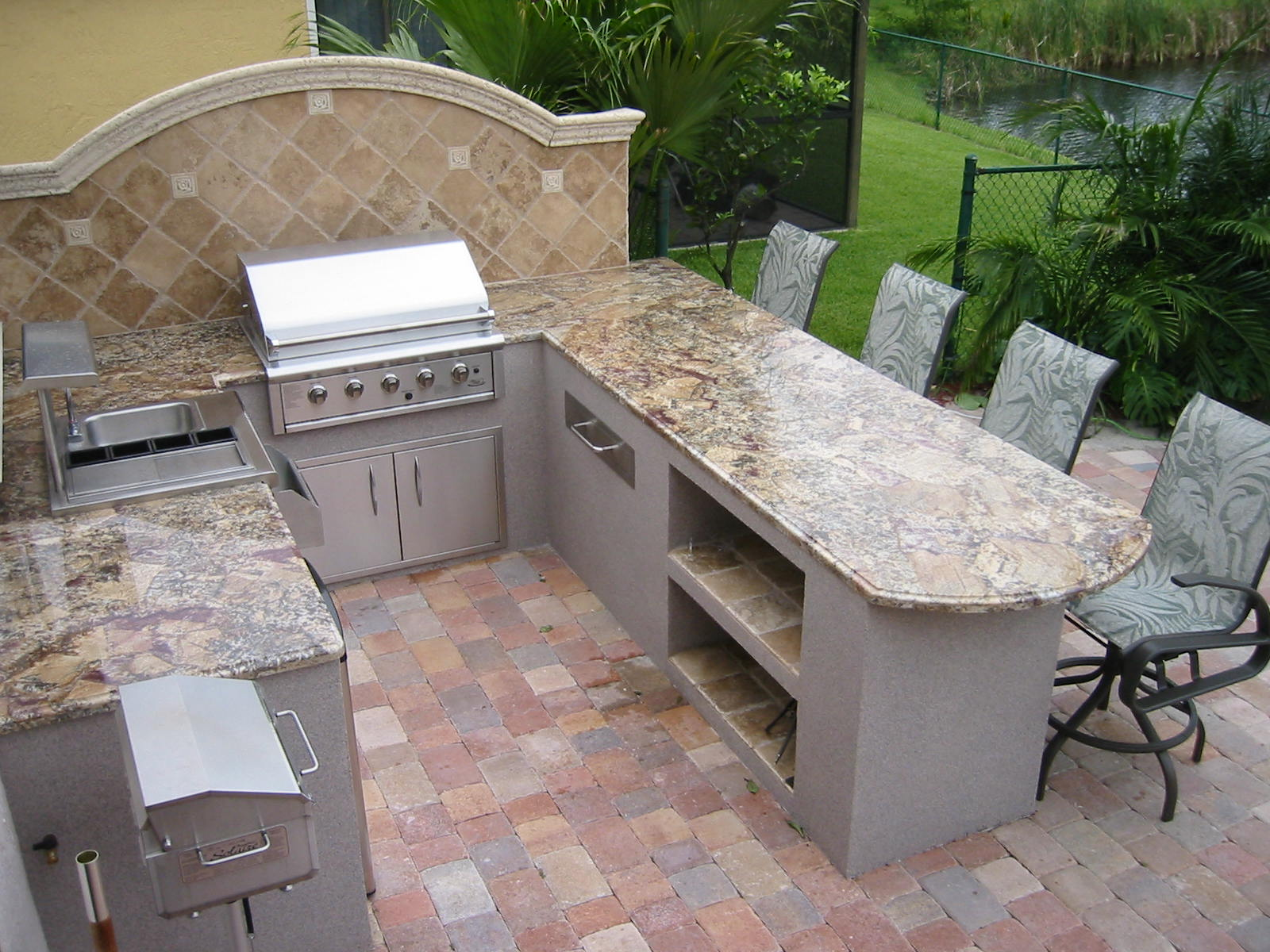 Granite For Outdoor Kitchen Exquisite Outdoor Kitchen Grill Island And Bar Design Features