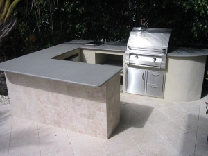 built in alfresco gas grill builder box outdoor kitchen