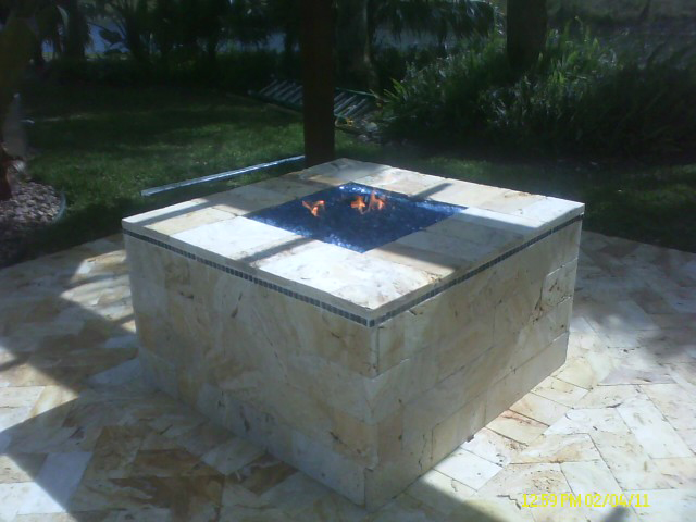 Custom Remote Control Gas Fire Pit With Alternative Fire