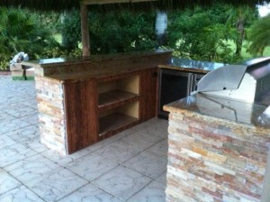 built in bbq grill island custom built on site in florida