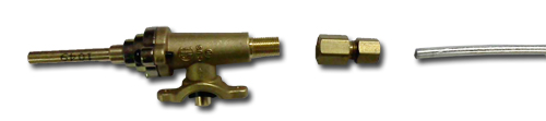 this is the control valve, the compression conversion fitting and the aluminum gas line to be used