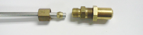 Grill repair compression fittings to extend bbq