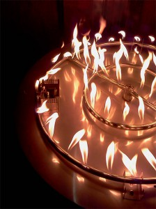 "double ring 24 inch burner on 30"" fire pit"