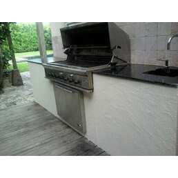 refurbished grill island after we fixed it