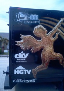 Vanilla Ice Home Remodeling Truck On Site