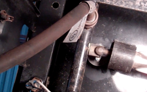 under the control panel is the manifold, brackets and control valves