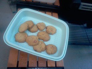 Weber cookies baked on the barbecue grill
