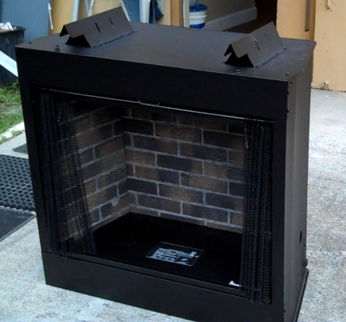 Paint The Brick Inner Liner Of A Fireplace Gas Grills