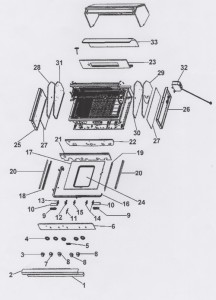 Viking Bbq Grill Exploded View Schematic Shows All Vgiq410
