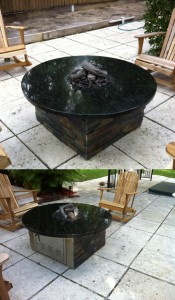 View Custom Fire Pit From 2 Sides