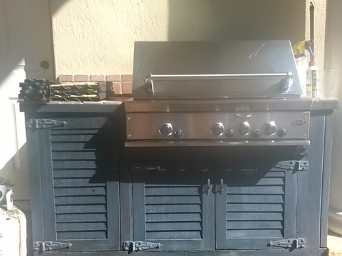 DCS Gas Grill Island Repaired And Cleaned With OCI Grill Parts