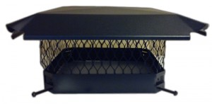 Termination top fireplace chimney cap for gas or wood burning fireplaces