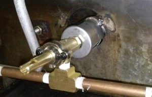 Custom Made Gas Manifold Attached To DCS Valve in Left U Burner.