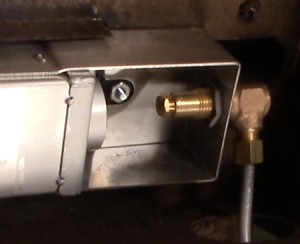 Dynasty rotisserie burner with new elbow and orifice.