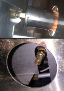 OCI control valve to orifice into U burner with new orifice on valve
