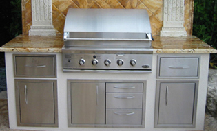 built in bbq, outdoor kitchen, grill island doors, drawers, accessories