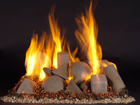 vented and ventless gas log fireplace alternative