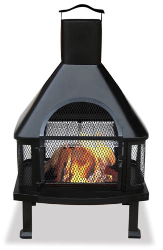Fire House Pit With Spark Arrester Chimney