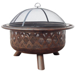 bronze wood burning fire pit