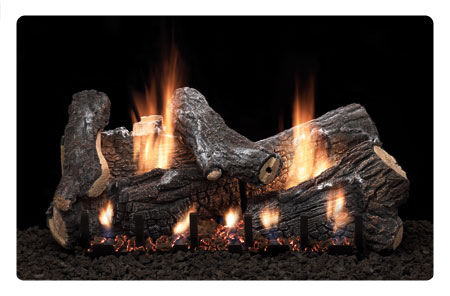 vent free sassafras gas log fireplace