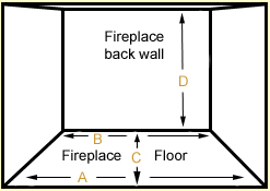 fireplace width and depth to amke certain vented or unvented gas fireplace burner fits