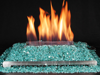 ventless glass fireplace