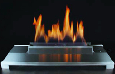 Ventless Gas Fireplace with Fire Glass Colors Stainless and Black