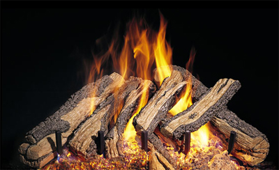 peterson real fyre driftwood gas log fireplace