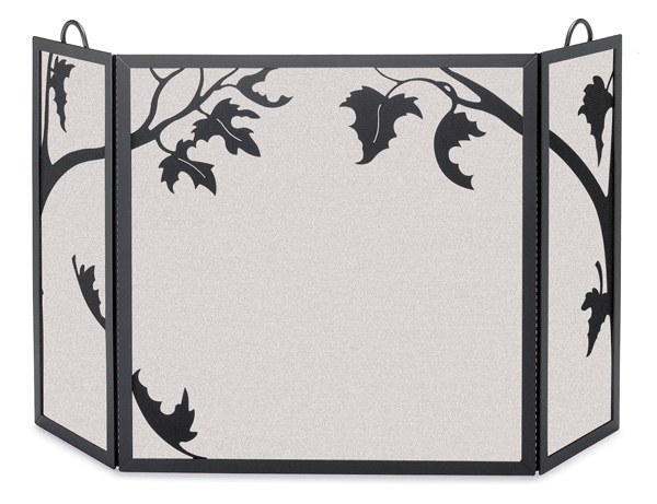 fireplace accessories screen autumn leaf