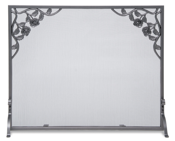 fireplace accessories screen cast rose flat panel