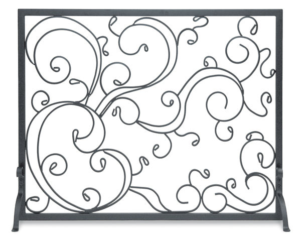 fireplace accessories screen cast traditional tri panel