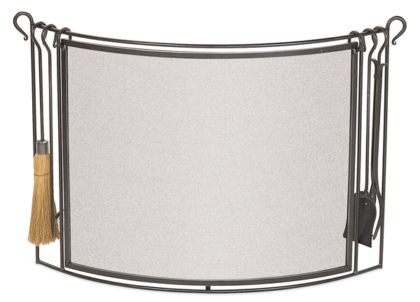 fireplace accessories screen wit tools