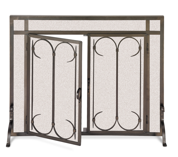 fireplace accessories screen iron gate doors