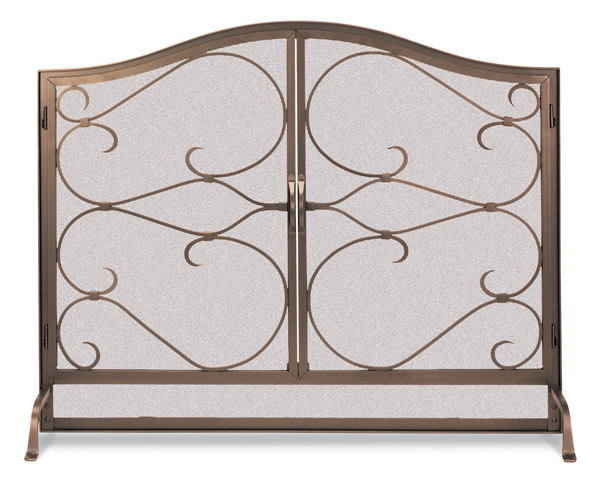 fireplace accessories screen iron gate doors arched