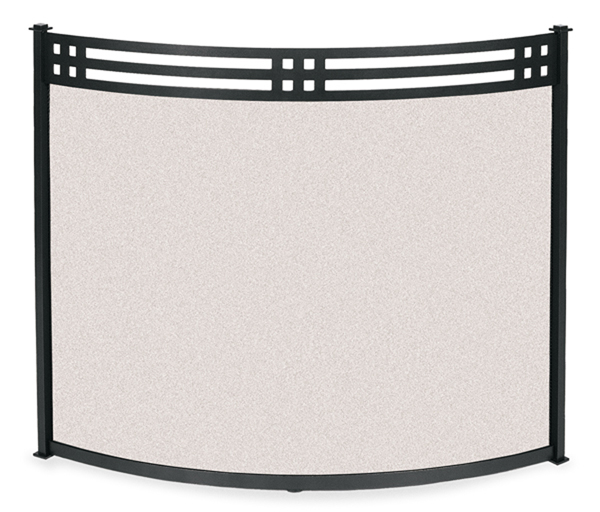 fireplace accessories screen bowed portfolio