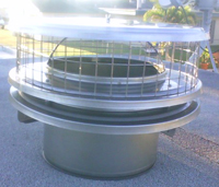 installed termination chimney cap