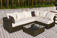 Charming Resin Wicker Outdoor Furniture 3 Piece Modular