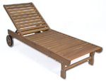 eucalyptus outdoor furniture chaise longer