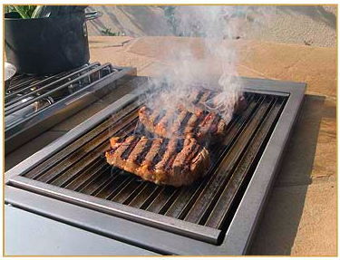 alfresco gas grilling grates on infrared sear zone built in accessory