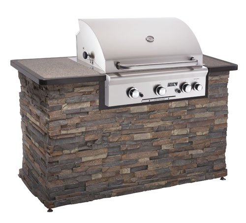 Built in bbq grills by american outdoor grills for Outdoor kitchen barbecue grills