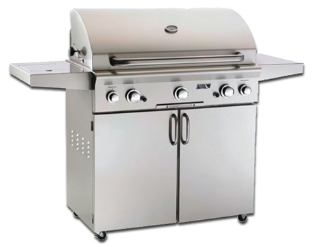american outdoor portable gas grill on cart