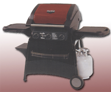 Char-Broil RED RED Infrared 4 Burner Grill with Outdoor Stove