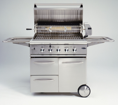 dcs bgb36 model gas bbq grill on portable cart