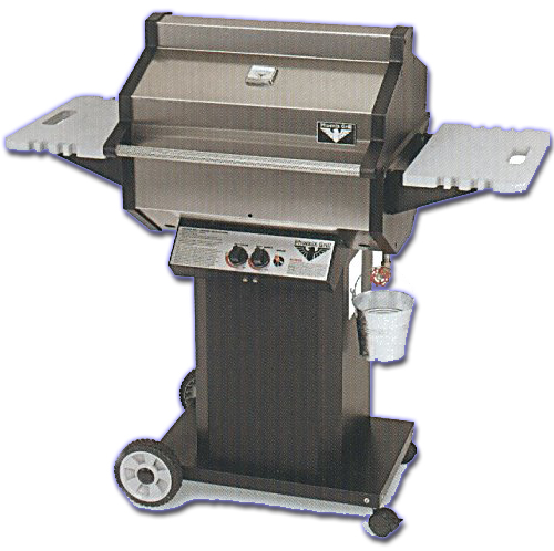 phoenix gas grill on mobile portable bbq cart
