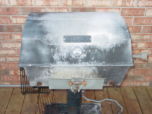 old arkla preway post mounted bbq grill