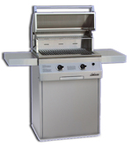 deluxe infrared gas grill and rotisserie head built in