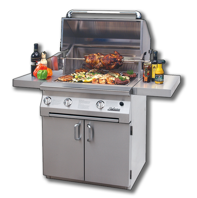 solaire infrared grill on cart agbq-30c grilling