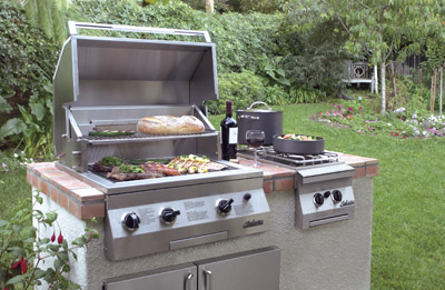 Double Side Burner For Built In Grill Island Or Cart Mount